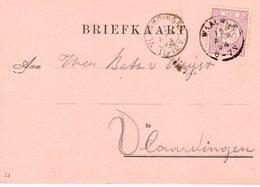 12 APR 94 Briefkaart Van WAALWIJK Naar Vlaardingen Met NVPH 33 - Periode 1891-1948 (Wilhelmina)