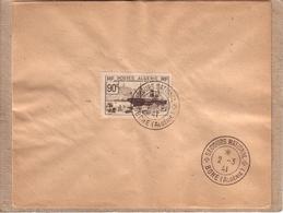 ALGERIE - CACHET SECOURS NATIONAL BONE SUR TMBRE POSTES ALGERIE 90 C EXPOSITION INTERNATIONALE NEW YORK 1939 - 1941 - Lettres & Documents