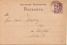 Germany ( Deutsches Reich) Postal Stationery Card From 1884, Lütgendortmund - Entiers Postaux