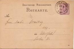 Germany ( Deutsches Reich) Postal Stationery Card From 1884, Lütgendortmund - Germany