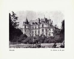 1958 - Illustration De Philippe Lejeune - Méréville (Essonne) - Le Château - FRANCO DE PORT - Documentos Antiguos