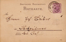 Germany ( Deutsches Reich) Postal Stationery Card From 1888, Ludenscheid - Germany