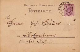 Germany ( Deutsches Reich) Postal Stationery Card From 1888, Ludenscheid - Entiers Postaux