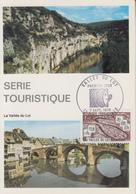 Carte  Maximum  1er  Jour   FRANCE   Vallée  Du  Lot   DECAZEVILLE   1974 - Cartes-Maximum