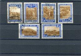 BELGIAN CONGO 1938 M.179/184 CTO - Belgisch-Kongo