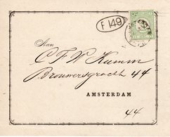Drukwerk Lokaal Verzonden Te Amsterdam Voor Nationale Militie Met NVPH 31 - Periode 1891-1948 (Wilhelmina)