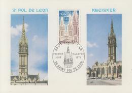 Carte  Maximum  1er  Jour   FRANCE   SAINT  POL  DE  LEON    1975 - Cartes-Maximum