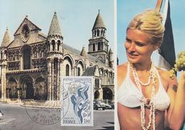 Carte  Maximum  1er  Jour   FRANCE     Région  :   POITOU - CHARENTES     POITIERS    1975 - Cartes-Maximum