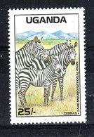 Uganda  -  1988. Zebre. MNH - Cavalli
