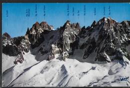 """LES AIGUILLES DE CHAMONIX - FORMATO PICCOLO - VIAGGIATA 1967 - ANNULLO A TARGHETTA """" CHAMONIX MONT BLANC SKI-ALPINISME - Alpinisme"""
