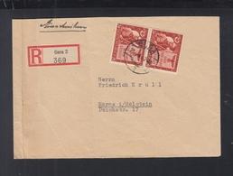 Dt. Reich R-Brief 1943 Gera Nach Marne - Deutschland