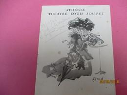 Théatre  Louis JOUVET/ Athénée/La Folle De Chaillot/Jean Giraudoux/ Marguerite MORENO// 1946                PROG206 - Programmes