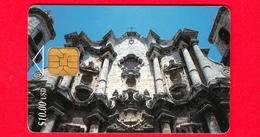 CUBA - Scheda Telefonica - Usata - 1997 - Cattedrale Di La Habana - ETECSA - $ 10.00 USD - CHIP - Cuba