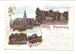 OBERSCHLESIEN - TILLOWITZ / TULOWICE, Lithographie 1898, Schloss & Park - Schlesien