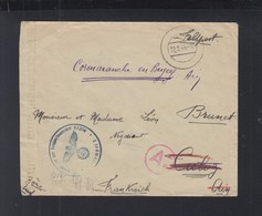 Feldpost 09336 Volontaire Francais Organisation Todt 1944(2) - Poststempel (Briefe)