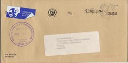 Swaziland Postage Paid Philatelic Bureau Cover Enveloppe Du Service Philatélique Voyagé Code Barre - Swaziland (1968-...)