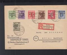SBZ Berlin R-Brief 1948 Nach Köln - Sowjetische Zone (SBZ)