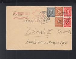 Alliierte Besetzung Brief 1946 Fürth Civil Censorship Kulmbach - American/British Zone