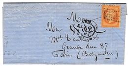 Lettre Paris 1863 Napoléon III 10 Centimes Boulanger & Cie Escompte Et Recouvrements Rue De Rambuteau - 1862 Napoléon III.