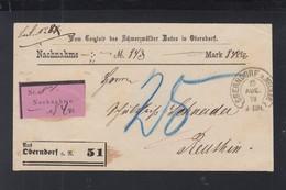 Nachnahme Brief 1878 Oberndorf A. Neckar - Wuerttemberg