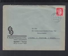 Dt. Reich Brief 1944 Lochung Ruckelhassen - Deutschland