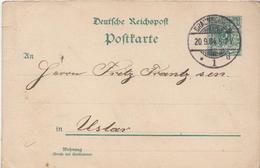 Germany ( Deutsches Reich) Postal Stationery Card From 1894, Braunschweig - Entiers Postaux