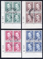 GREENLAND 1990 Queen Margarethe Definitive In Used Corner Blocks Of 4.  Michel 201-04 - Greenland
