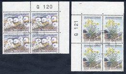 GREENLAND 1989 Flowers I In Used Corner Blocks Of 4.  Michel 197-98 - Greenland