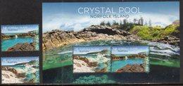 NORFOLK ISLAND , 2018, MNH CRYSTAL POOL, COASTLINE, LANDSCAPES,2v+SHEETLET - Geology