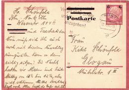 Germany / Deutsches Reich Used Overprinted Belgien (?) Postcard - Occupation 1938-45