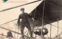 54 - LUNEVILLE - Le Lieutenant De CAUMONT Du 8è Dragons Attérissant Sur Le Terrain De Manoeuvres (8 Août 1910) - Luneville