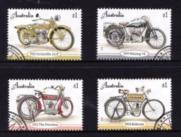 Australian 2018 Vintage Motorcycles Set Of 4 Used - Oblitérés