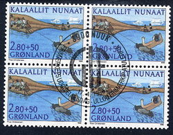 GREENLAND 1986 Sports Fund In Used  Block Of 4.  Michel 164 - Greenland