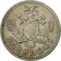 Monnaie, Barbados, 25 Cents, 1973, Franklin Mint, TTB, Copper-nickel, KM:13 - Barbades
