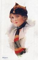 BELGIQUE - Illustrateur Ethel C. BRISLEY - BELGIUM - JEUNE FEMME - Editeur A. Vivian Mansell & Co - Other Illustrators