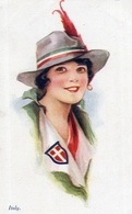 ITALIE - Illustrateur Ethel C. BRISLEY - ITALY - JEUNE FEMME - Editeur A. Vivian Mansell & Co - Other Illustrators