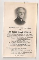 1946 FAIRE PART DECES ABBE LOISEAU / GUERANDE / GUENROUET / FAY DE BRETAGNE /  LEGE / ST LUMINE DE COUTAIS  FROSSAY B157 - Obituary Notices