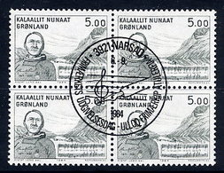 GREENLAND 1984 Art V: Henrik Lund In Used  Blocks Of 4.  Michel 153 - Greenland