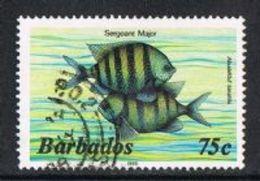 Barbados SG805B 1986 Definitive 75c Good/fine Used [9/10574/1D] - Barbados (1966-...)