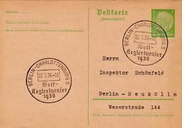 Germany ( Deutsches Reich) Postal Stationery Card From 1935 With Berlin-Charlottenburg Rundfunfausstellung Cancel - Germany