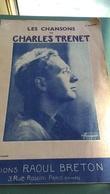 LES CHANSONS De CHARLES  TRENET,,,,4 Eme ALBUM,,,EDITIONS  RAOUL BRETON,,,,PHOTO  HARCOURT  PARIS - Music & Instruments