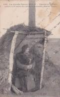 240218La Guerre Européenne 1914, Chasseur En Sentinelle Avancee à 50 Mètres Des Tranchees Alemandes, Dans Les Vosges. - Guerre 1914-18
