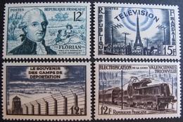 FD/2581 - 1955 - DIVERS - N°1021 à 1024 NEUFS** - LUXE - France