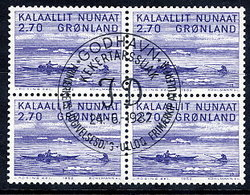 GREENLAND 1982  Art III In Used  Block Of 4.  Michel 136 - Greenland