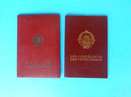 YUGOSLAVIA PASSPORTS - 2. DIFFERENT MODELS ... Passport Passeport Reisepass Pass Pasaporte Passaporte Passaporto - Historical Documents