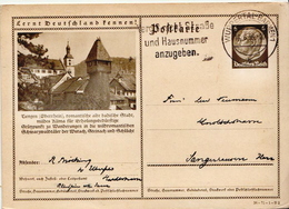 Germany ( Deutsches Reich) Used Pictured Postal Stationery Card From 1936 With Tiengen Oberrhein - Germany