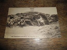 Carte Postale Ancienne De The Toposcope (n°7) Top Of The Malvern Hills, Carte Animée, Cavaliers Sur Des Mules - Worcestershire