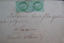 R1712/15 - LETTRE (LSC) - CERES (PAIRE) N°53 - 1871-1875 Cérès