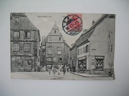 Carte Sarreunion Els    -  Sarre-Union Els  Village Avec Enfants Et Villageois  1910 - Sarre-Union