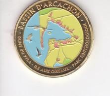 Jeton Médaille Souvenirs Et Patrimoine Dune Du Pyla Ile Aux Oiseaux Parc Onithologique Bassin D'arcachon - Touristiques